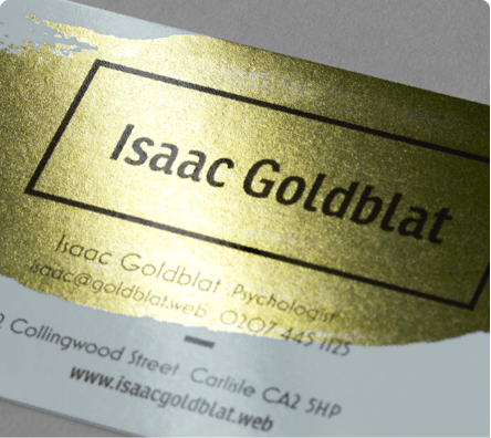 custom Metallic Business Cards