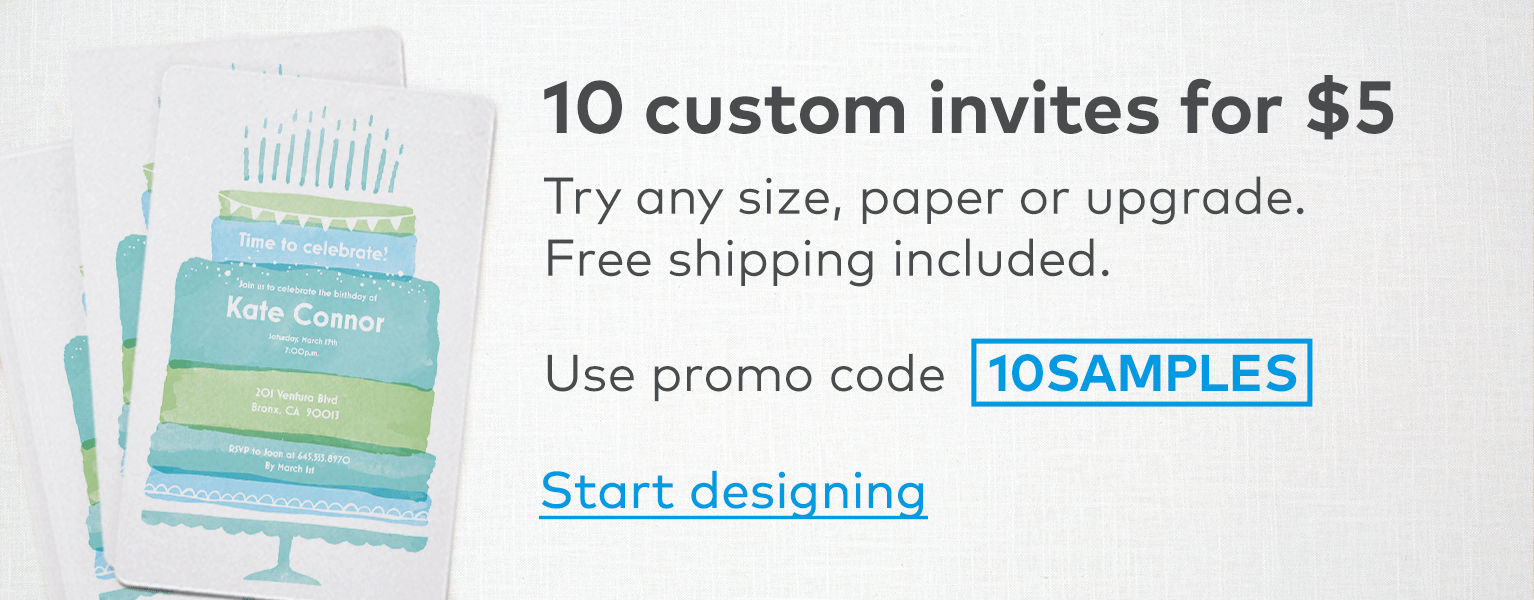 10 Custom Invites For 5