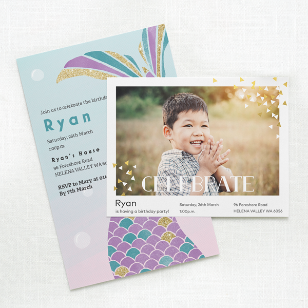 Customizable Birthday Invitations Child