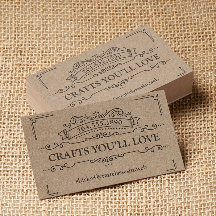 Kraft Business Cards | Vistaprint
