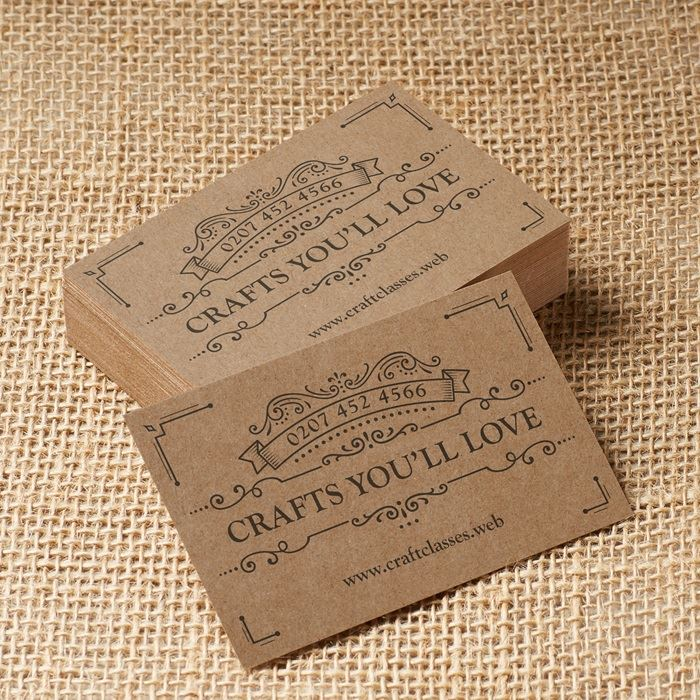 Kraft business cards · Eco-friendly cards · Vistaprint