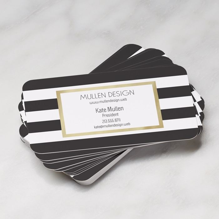Rounded Corner Business Cards Rounded Edge Cards Vistaprint