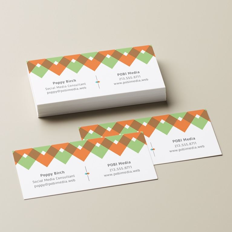 Small slim business cards skinny business cards for Vista business card