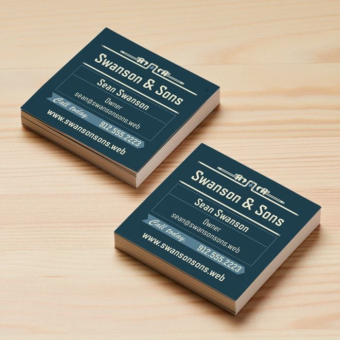 Square Business Cards, Size 2.5\