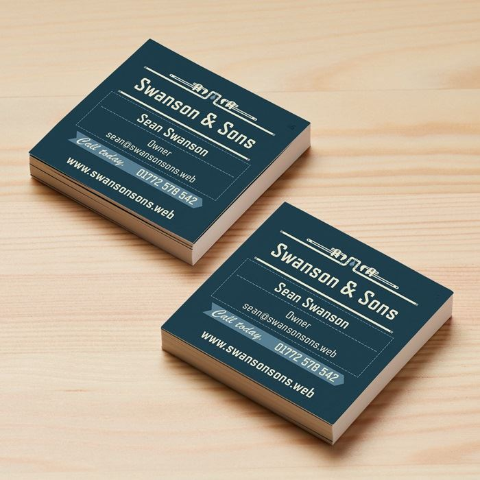 Square business cards a unique look vistaprint square business cards reheart Images