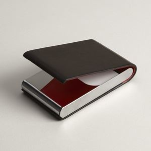 Personalized business card holders cases vistaprint leather vertical colourmoves