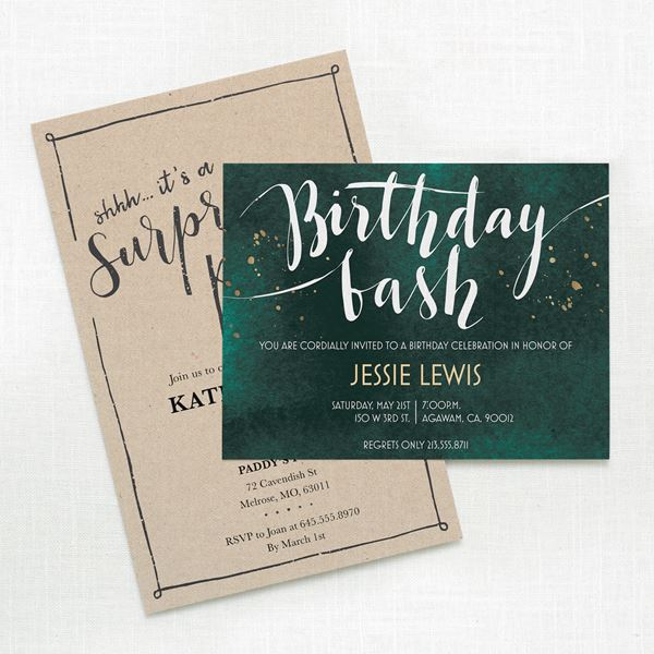 Birthday Invitations Personalized Party Favors