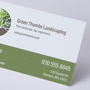 Business cards make your own custom cards vistaprint recycled matte fbccfo Images