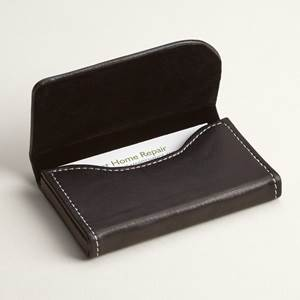 black leather horizontal business card holders - Leather Business Card Holder