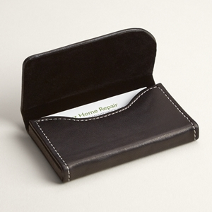 Business card holders cases vistaprint black leather horizontal business card holders reheart Choice Image