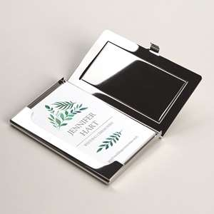 Personalized business card holders cases vistaprint metal business card holders colourmoves
