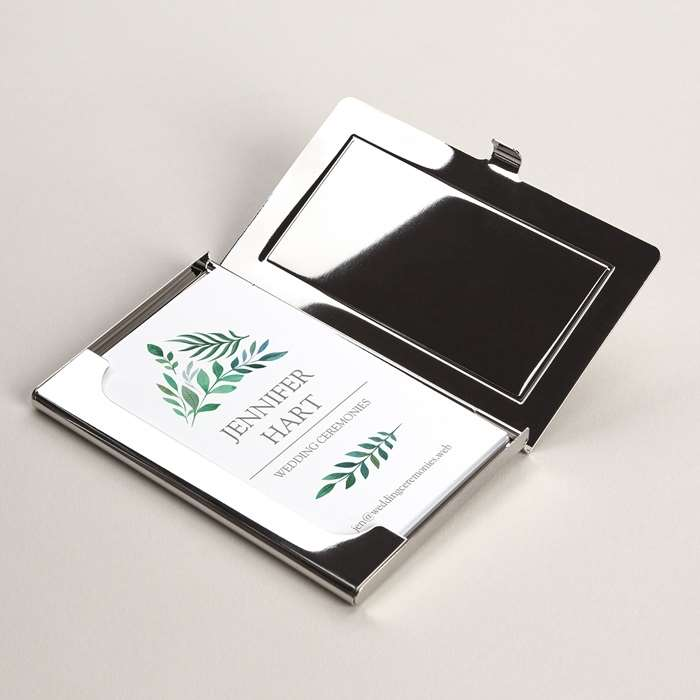 Metal business card holders professional card holder vistaprint metal business card holders reheart Images