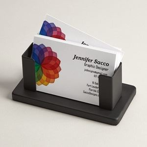Personalized business card holders cases vistaprint steel desk business card holder reheart Images
