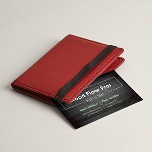 Personalized business card holders cases vistaprint folded red leather business card holders reheart Gallery