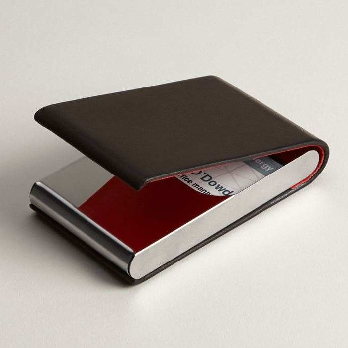Leather business card holders leather card case vistaprint business card holders colourmoves