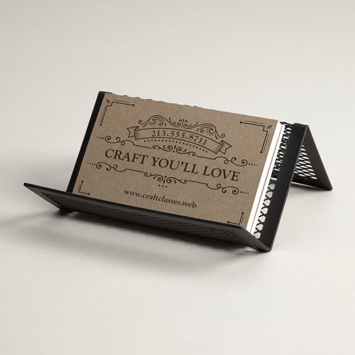 Metal Mesh Desk Business Card Holders & Desk Card Holder | Vistaprint