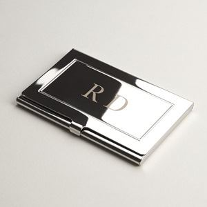 Personalized business card holders cases vistaprint engraved metal business card holders reheart Images