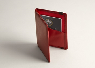 Red leather business card holders red leather card case vistaprint folded red leather business card holder reheart Gallery