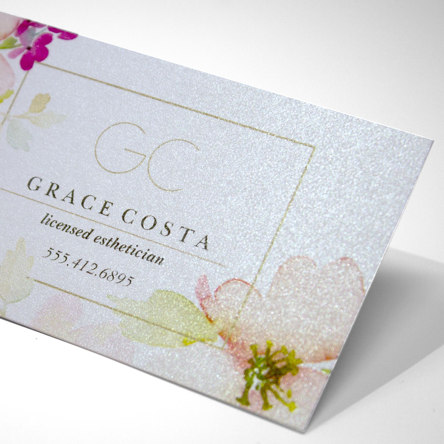 Pearl Business Cards Pearl Paper Stock Vistaprint