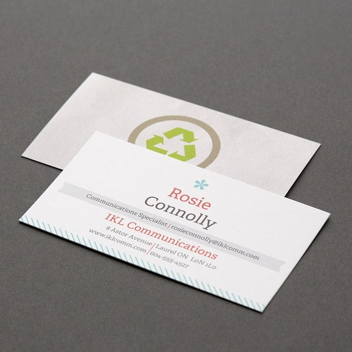 Custom Recycled Matte Business Cards