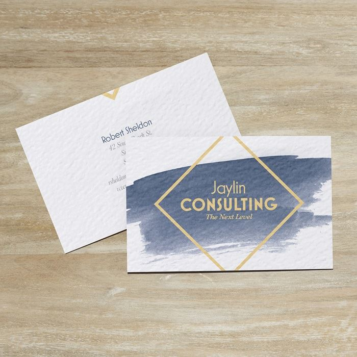 Custom textured uncoated business cards vistaprint reheart Image collections