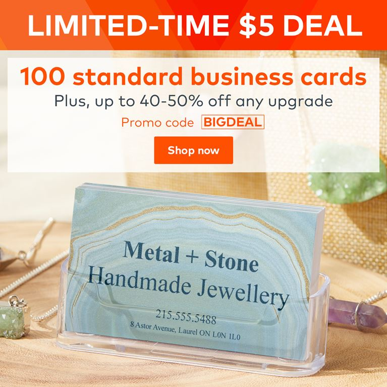 Vistaprint promo code vistaprint coupons daily deals 2018 5 deal 100 standard business cards reheart Gallery