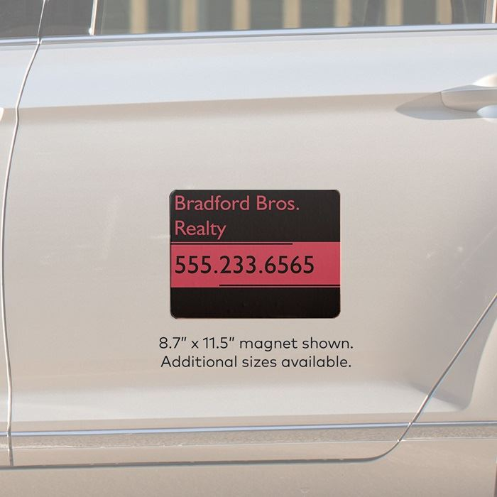 Car magnets magnetic signs vistaprint car door magnets reheart Image collections