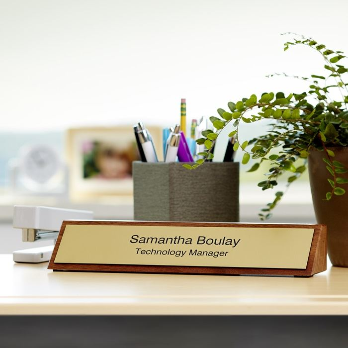 Wooden Desk Name Plates