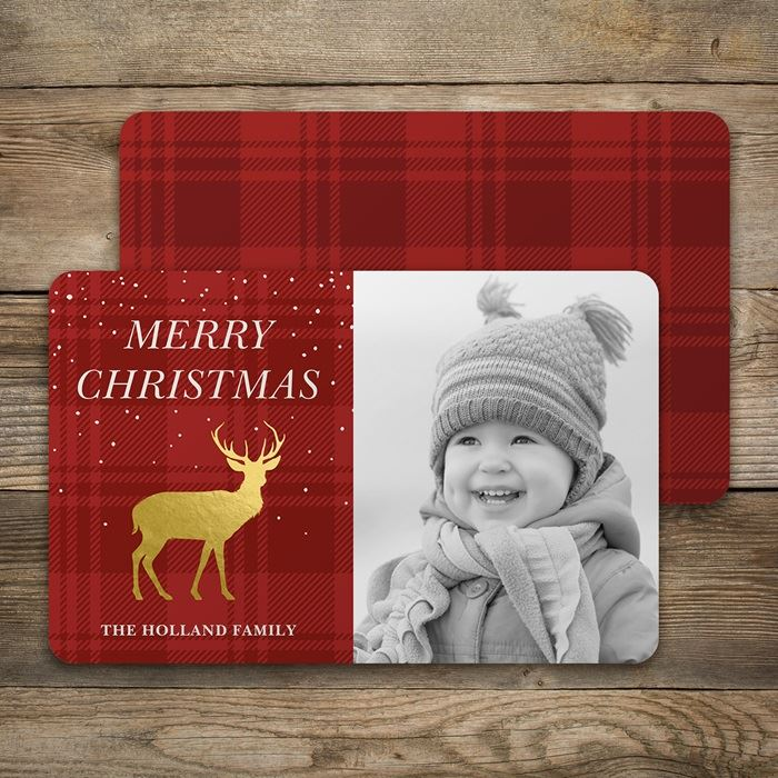 Rounded corner holiday christmas cards vistaprint rounded corner holiday cards m4hsunfo