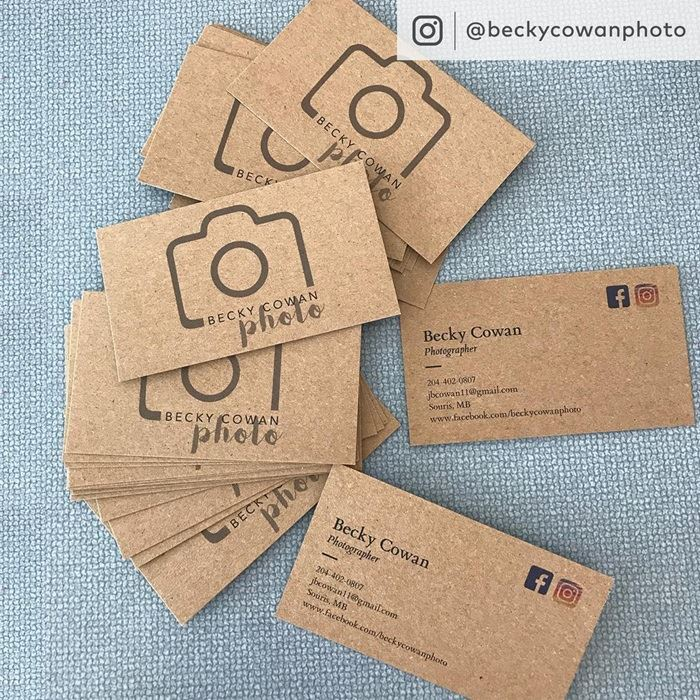 Kraft business cards eco friendly cards vistaprint kraft bc reheart Images