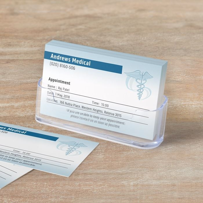 Business appointment cards vistaprint appointment cards reheart Images