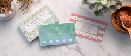 custom loyalty cards punch cards for businesses vistaprint