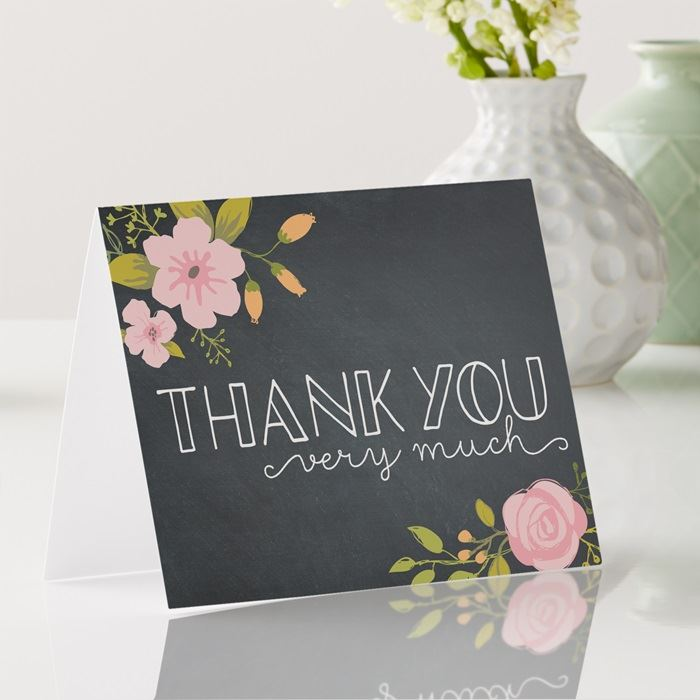 thank you cards - Custom Folded Note Cards