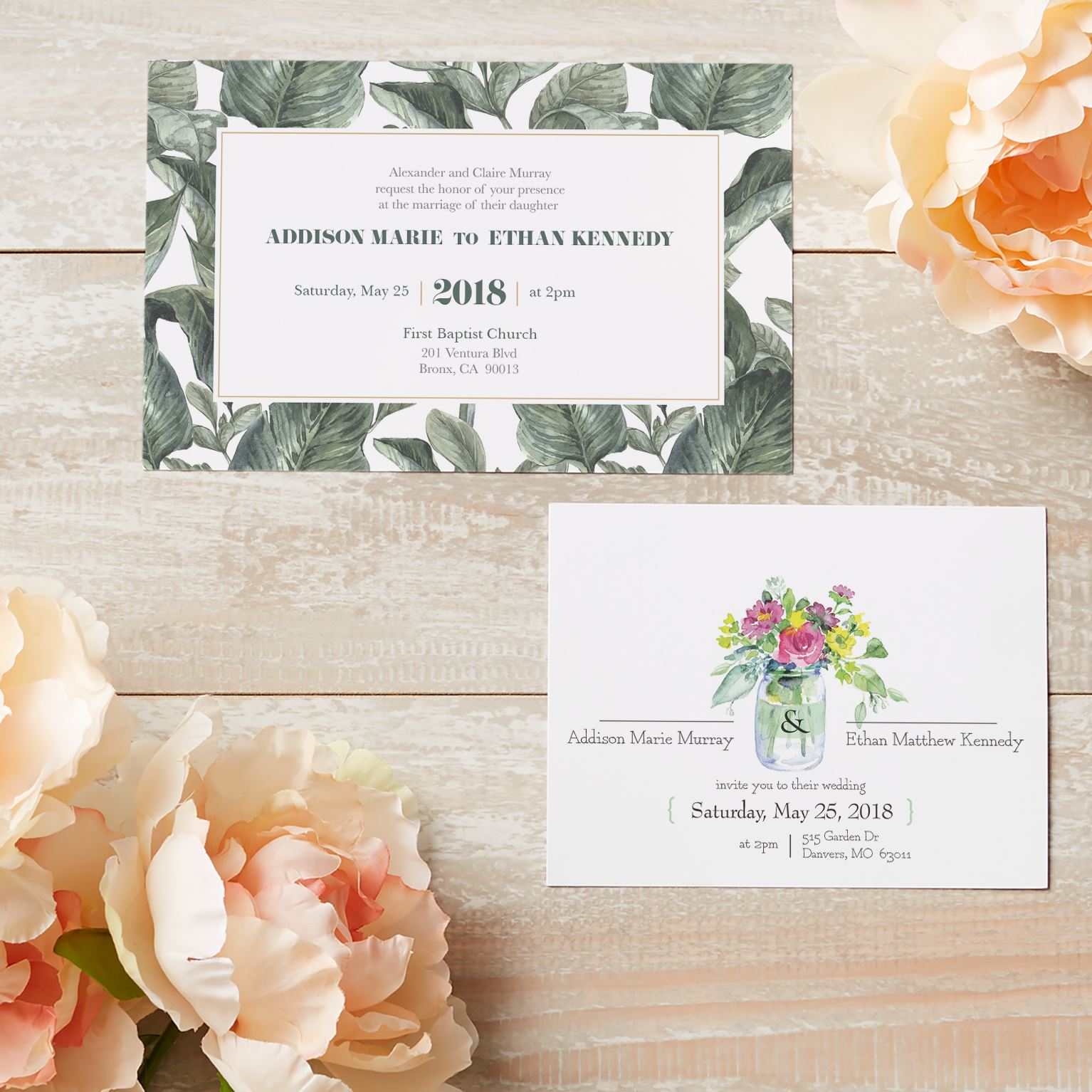 Custom Wedding Invitations Announcements Vistaprint