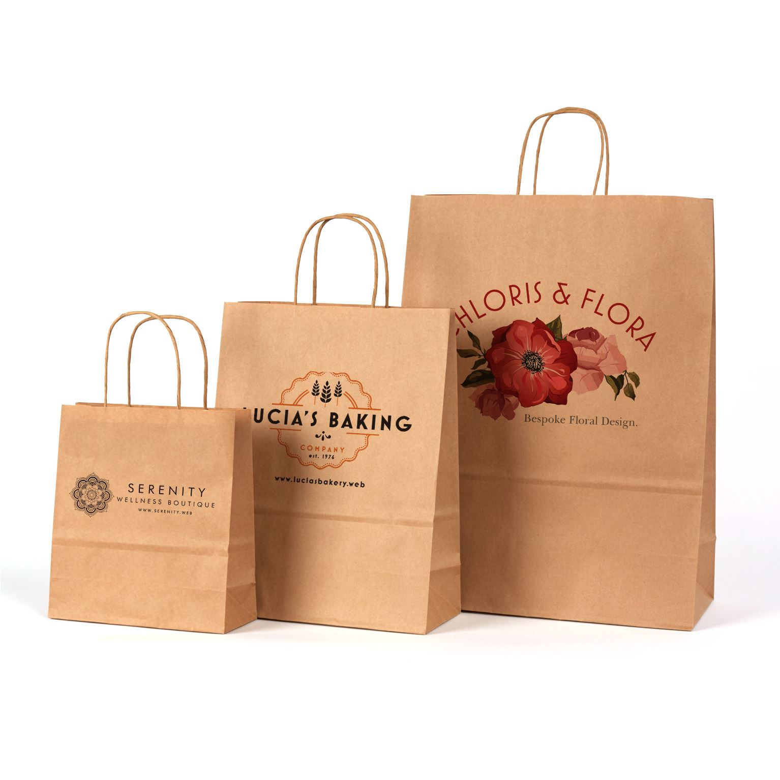 Extra small paper bags with handles