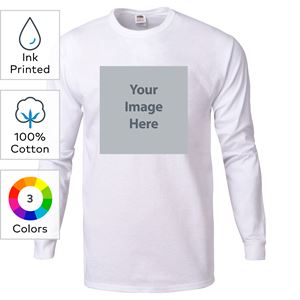 Fruit Of The LoomR Ink Printed Heavy Cotton HDTM Long Sleeve T Shirts