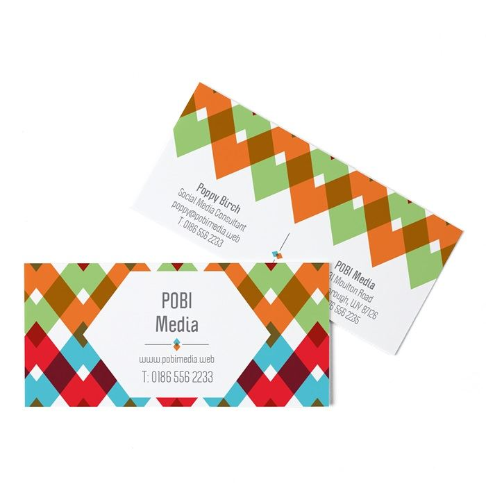 Business cards: oustanding sizes & shapes · Vistaprint