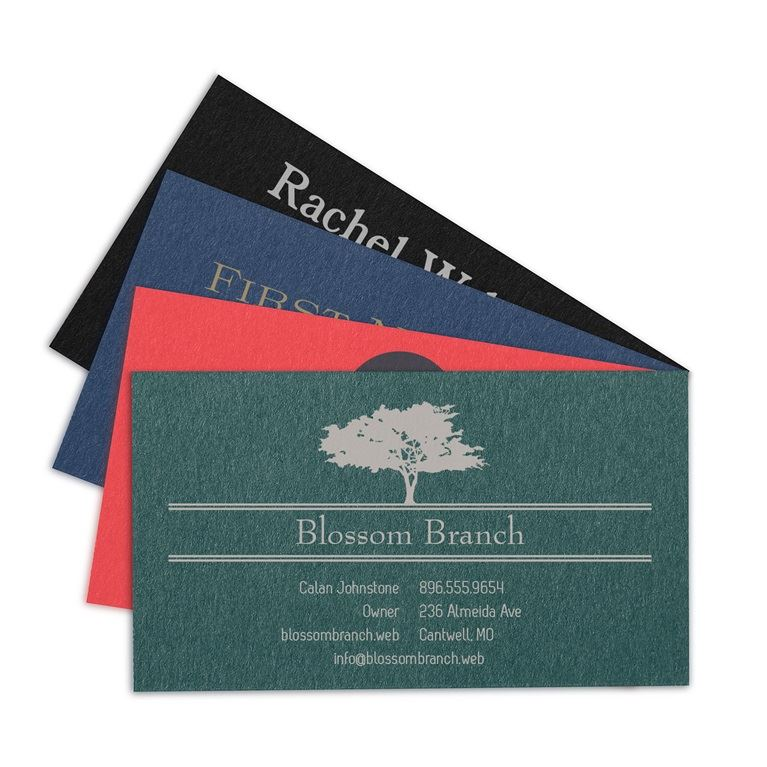 Colored paper business cards vistaprint for Business card colors