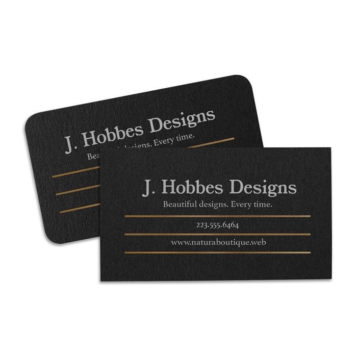 Colored business cards: Black, Red, Blue, Green paper | Vistaprint