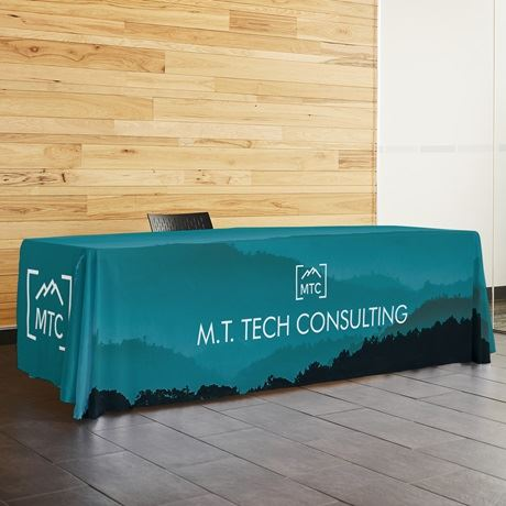 custom tablecloths trade show table covers vistaprint