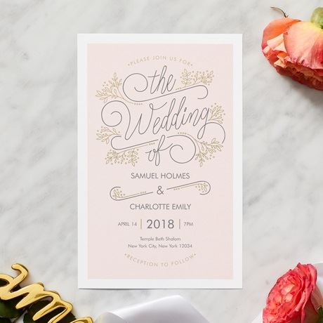 Wedding invitations custom wedding stationery vistaprint typographical stopboris Image collections