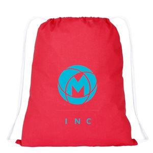 Basic cotton drawstring backpack