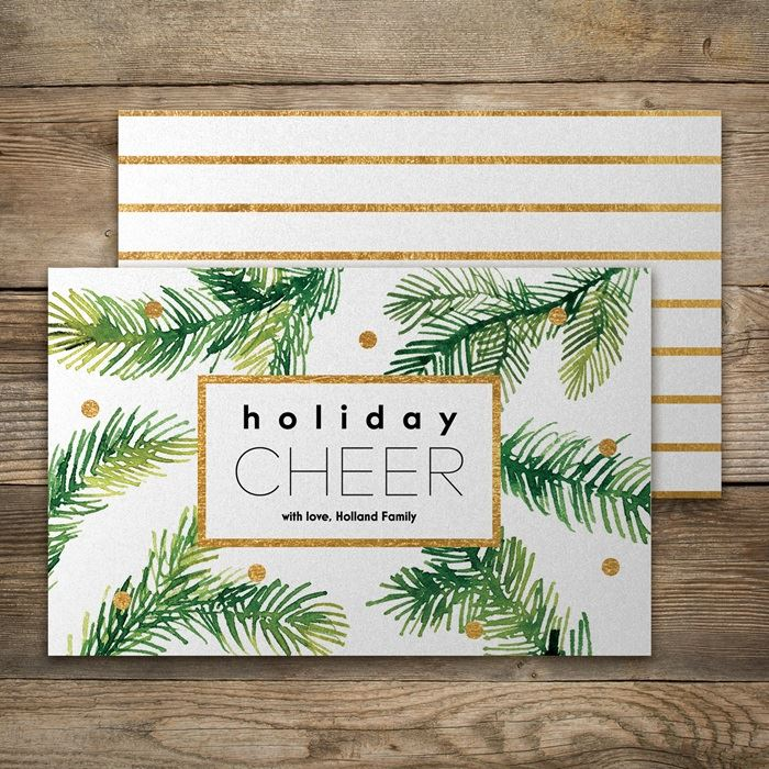Pearl shimmer holiday cards