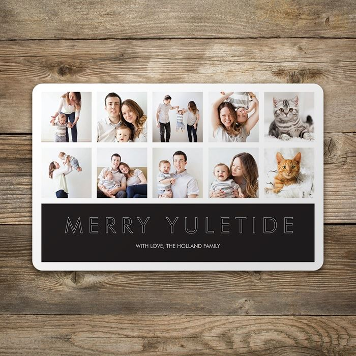 Rounded corner holiday cards