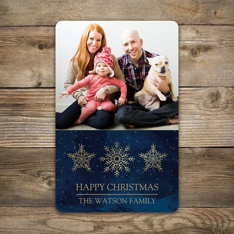 Rounded corner Christmas cards