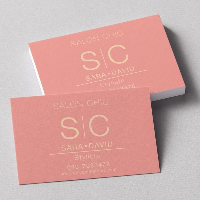 Linen business cards