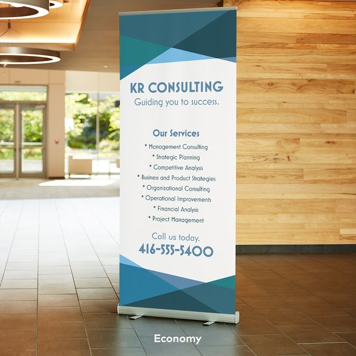 Retractable signs,  vistaprint retractable banners