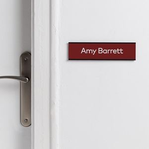 Engraved door signs