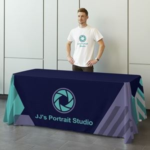 Table cover for tradeshow,  Vistaprint tablecloth, Personalized tablecloth